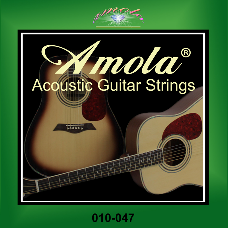 Originele Amola A120 010-047 Akoestische gitaarsnaren Serie snaren Hot muziekinstrumentaccessoires groothandel gitaaronderdelen
