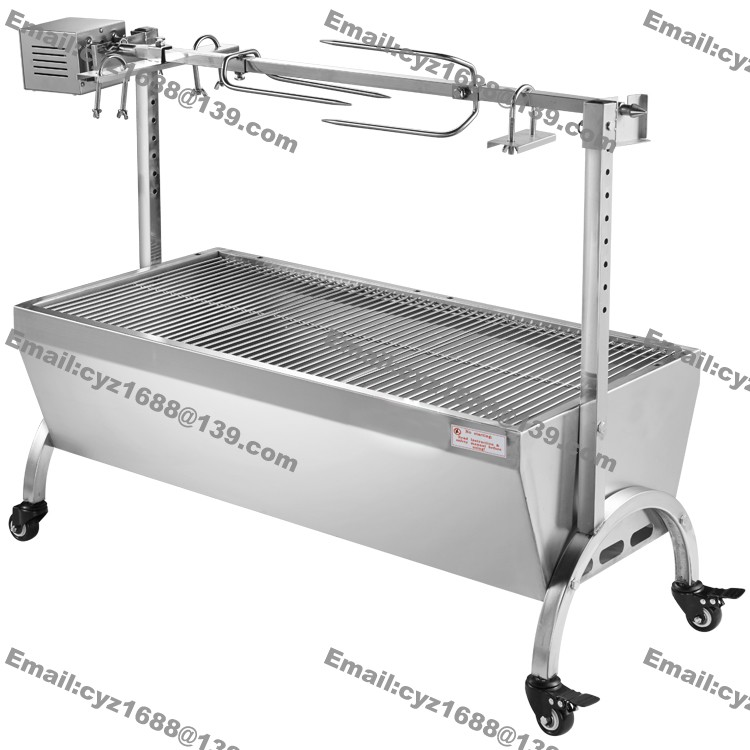 Free shipping 120cm heavy duty hog roasting machine bbq for Bbq spit motors electric