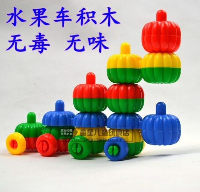 De Citrouille Bureau Voiture Blocs Jouets Construction Enfants Maternelle Pour Fruits 4jLqc5R3A