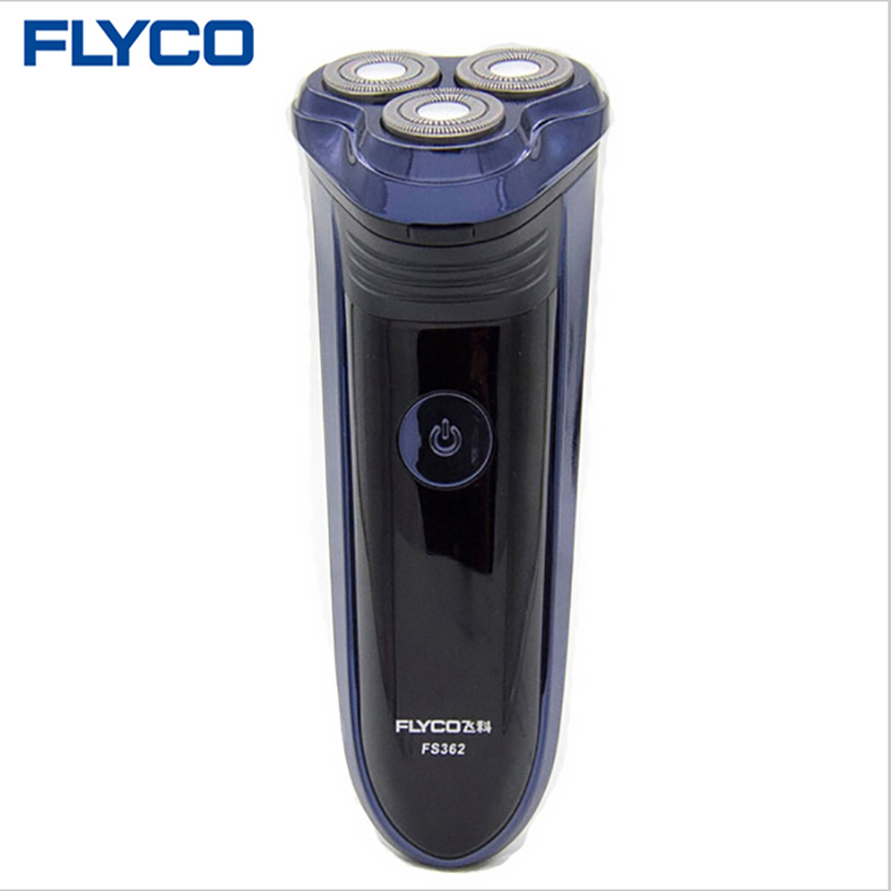 Flyco professional Rechargeable Electric Shavers for men with Pop-up trimmer Triple floating Blades Shaving Machine Razor FS362 povos waterproof men s rechargeable triple blade electric shavers razor 3d pop up trimmer 8 hour charge 220v pq7200