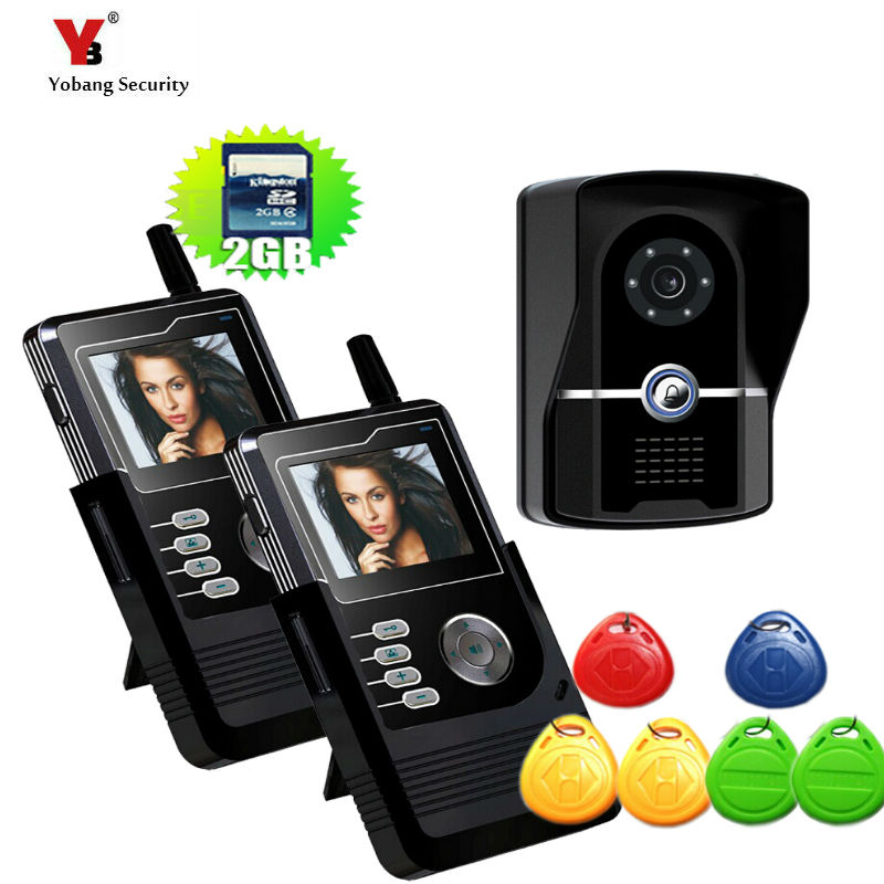 Yobang Security FreeShipping wireless door bell video doorphone PIR Motion Detection Night vision Remote Unlock Video intercom freeshipping rs232 to zigbee wireless module 1 6km cc2530 chip