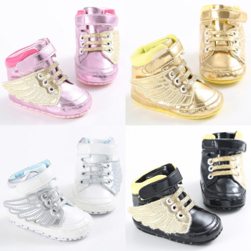 Helen115 Lovely Newborn Baby Boy Girl Wing Crib Shoes Sneakers Size 0-18 Months