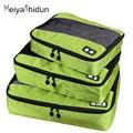 MeiyaShidun 3Pcs/Set Nylon Unisex Packing Cube For Clothes sorting Lightweight Luggage Travel Bags Suitcase Duffle Bag Organizer