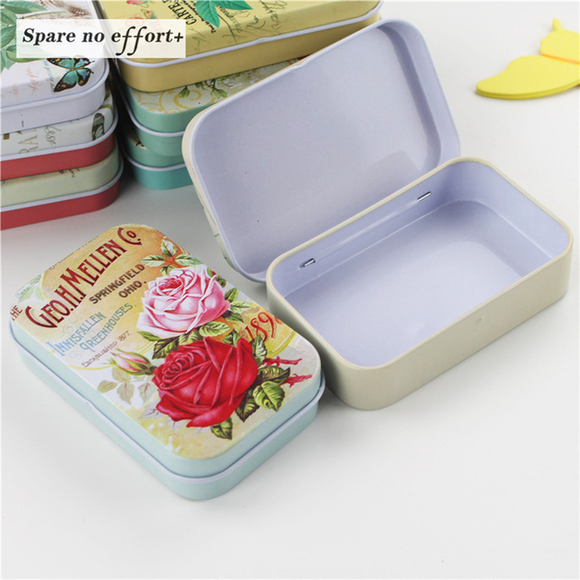 Ordinaire 8 Pieces/lot Beautiful Flower Storage Box Small Metal Tin Boxe Bow Knot Tea