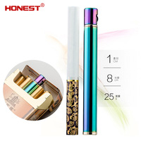 Honest One Piece Mini Refillable Lighters Men Female Creative Slim Matchstick Flint Gas Smoker Gas Windproof