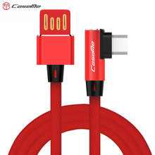 CaseMe Durable Material 90 Degree Elbow for Android Micro USB Fast Charging Cable for Sams