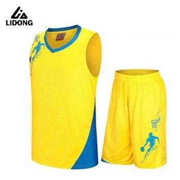 f2882db406 Conjunto de uniformes de baloncesto Reversible de 2017 hombres kits de ropa  deportiva camisetas de baloncesto de doble cara DIY trajes de Entrenamiento  ...