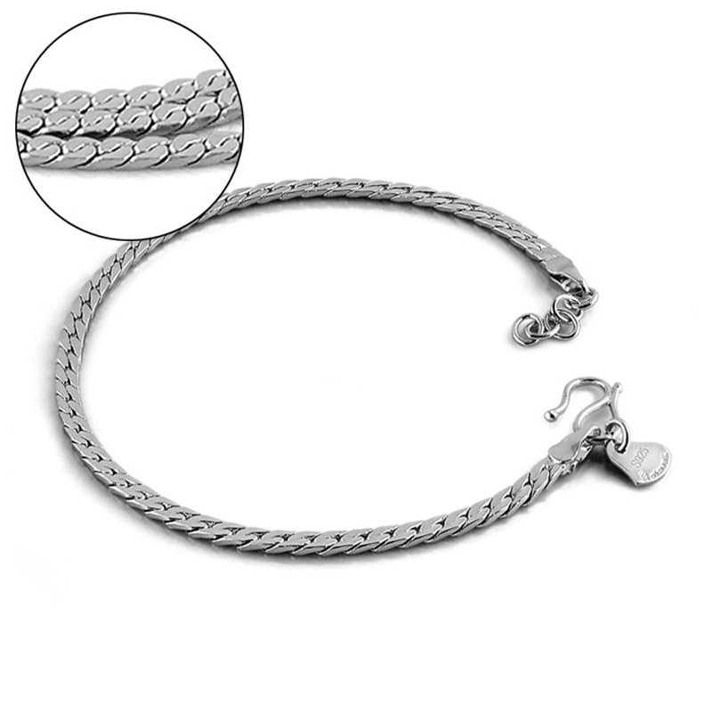 Man silver jewelry. Fashion charm sterling silver 19cm bracelet . Men's / Boy's British rock style 925 sterling silver bracelet