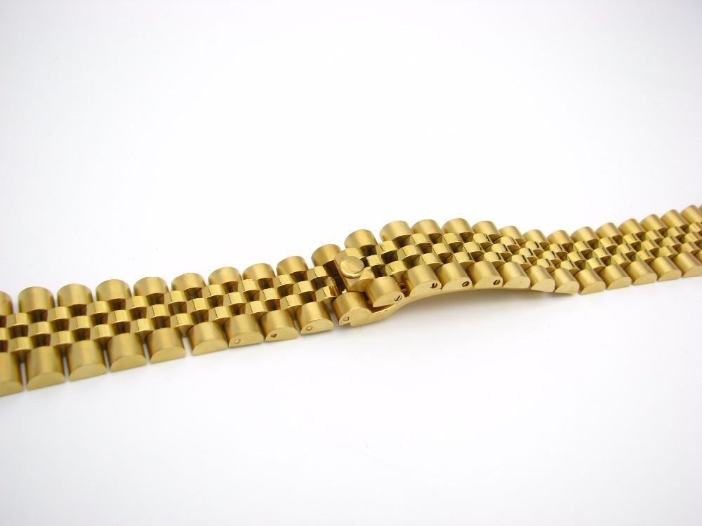CARLYWET 20mm Steel Gold Dvoubarevný pásek na pásek Pevné - Příslušenství k hodinkám - Fotografie 3