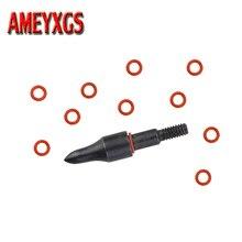 12/24/50pcs Arrow Points Locks O Ring Rubber Washers Archery Broadheads Arrowhead Accessory