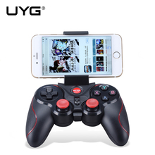 UYG S5 Wireless Bluetooth Joystick Gamepad Gaming Controller Remote Control for Android IOS Games Tablet TV Box with holder