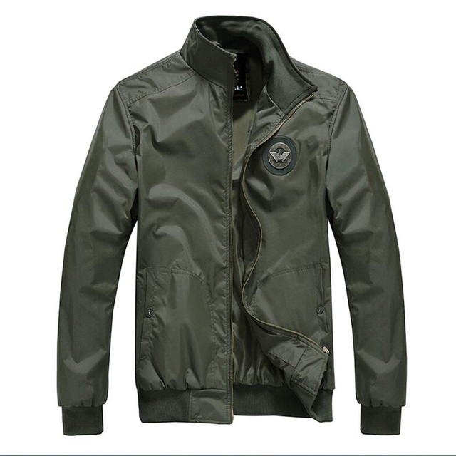 US $34.99  2018 Hot marchio di abbigliamento giacca uomo aeronautica militare bomber air force one dell'esercito del ricamo giacca della tuta sportiva