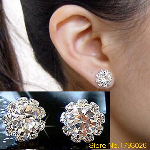 New FASHION Special Crystal Flower Stud Earrings for Women girls 4TGB