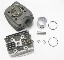 Motorrad Airsal 40mm Zylinder kit mit zylinderkopf aluminium decompressor für PEUGEOT PGT40 103 104 105 RCX SP SPX NEUE 49CM3