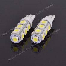2Pcs High Quality T10 13 SMD 5050 White Car Led Side Turn Signal Light DC 12V 13led 194 168 W5W Wedge 13SMD Bulbs Interior Lamps(China)