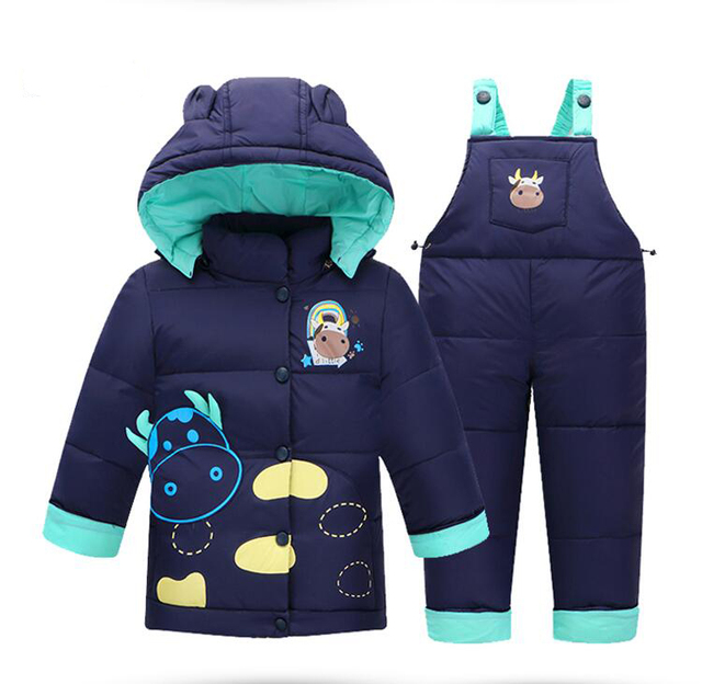 cb3014bbd2d2 New Style 2016 Winter Baby Girls Boys Clothes Sets Cartoon Down Coat ...