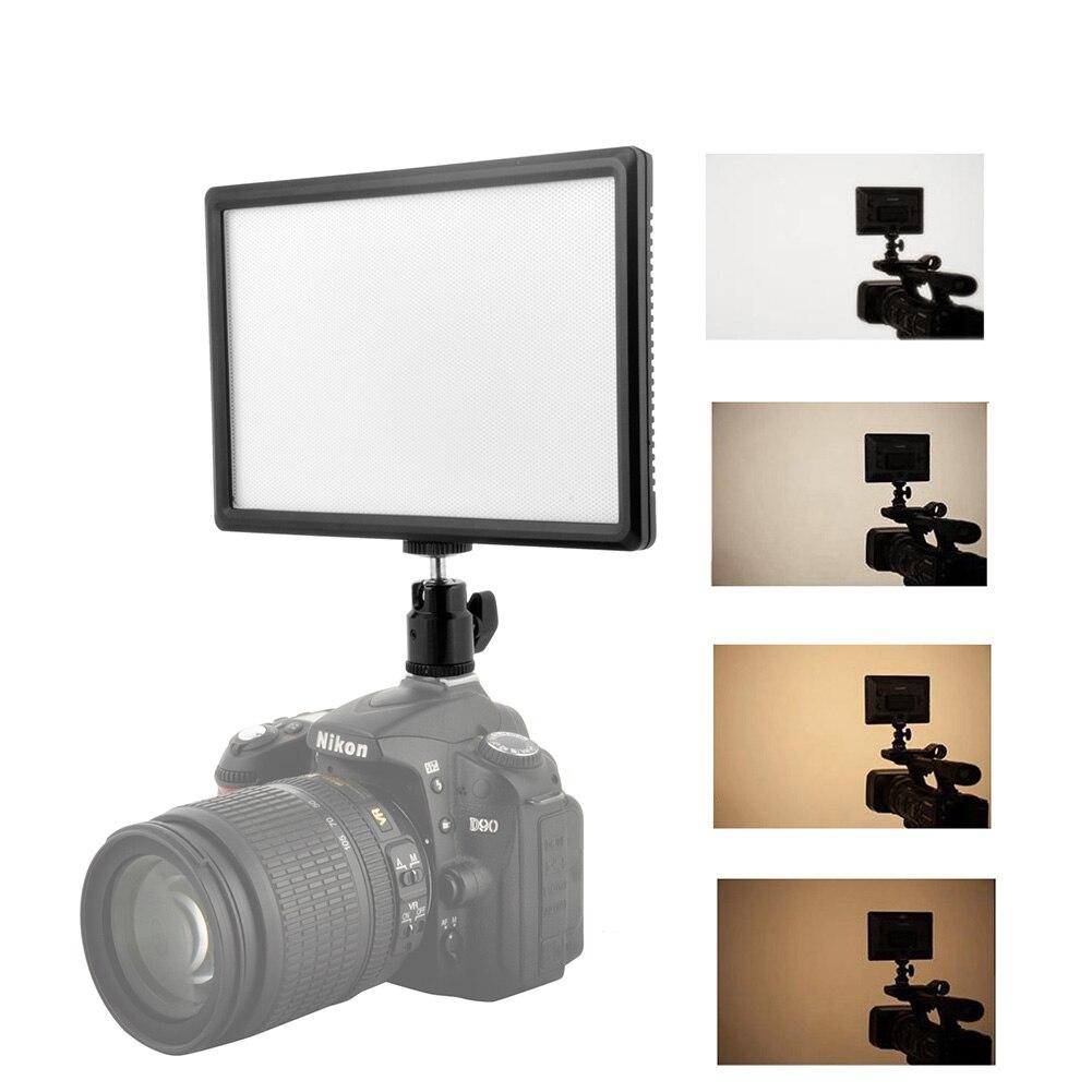 TSLEEN Ultra-mince 980lm LED lumière vidéo photographie lumière de remplissage Dimmable 3200 K-6200 K pour Canon Nikon Sony Panasonic appareil photo reflex numérique - 2