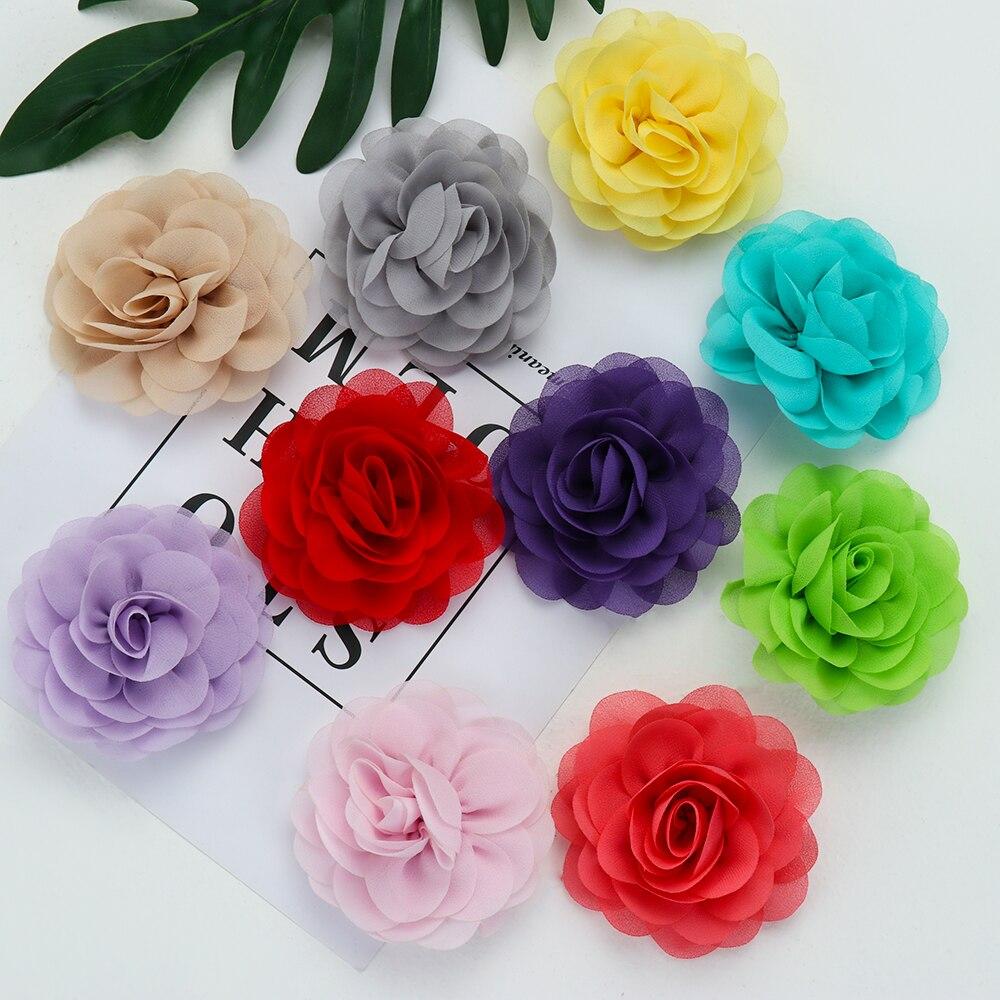Headwear Hair-Accessories Festival Flower Soft Girls 20-Colors Cute Big Party Kids Children