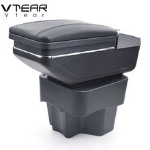 Vtear для KIA Rio/rio 3 подлокотник коробка центральный магазин содержание коробка с подстаканником продукты интерьер автомобиля-Стайлинг аксессуар 2011-2016