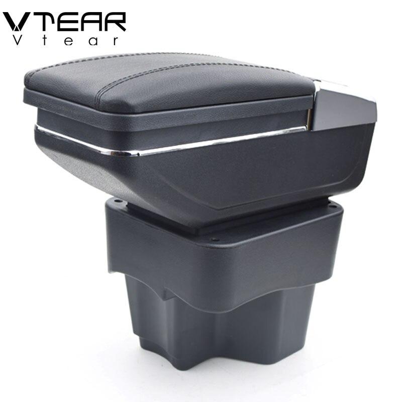 Vtear Pour KIA Rio/rio 3 boîte d'accoudoir central boîte de contenu de Magasin avec porte-gobelet produits intérieur voiture- accessoire de coiffage 2011-2016