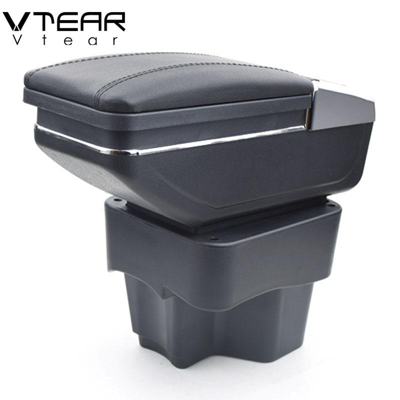 Vtear para KIA Rio/rio 3 apoyabrazos caja central almacenar contenido caja con copa titular productos interior car- accesorios de estilo 2011-2016