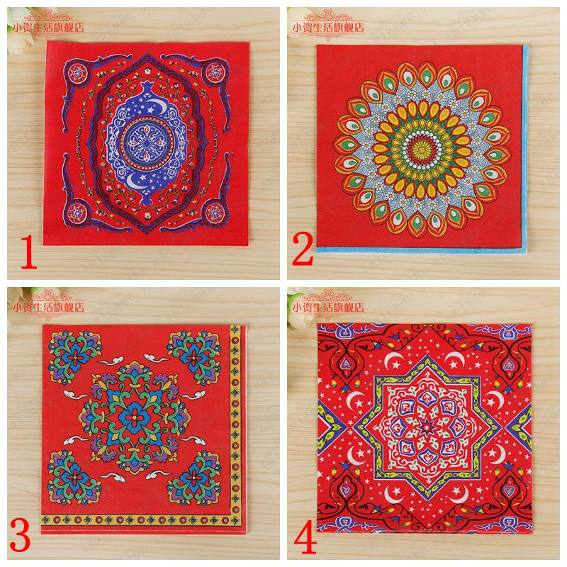 20pcs lot printed feature chinese style islamic month for A t design decoration co ltd