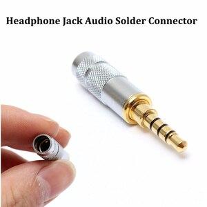 Image 5 - LEORY 2pcs זהב מצופה 3.5mm סטריאו 4 מוט תיקון אוזניות ג ק תקע כבל אודיו הלחמה מחברים