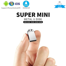 New Mini usb flash drive 64GB metal USB key memory stick waterproof usb 3.0 128gb Pendrive 32GB 16GB 8GB 4GB U disk Pen Drive цена и фото