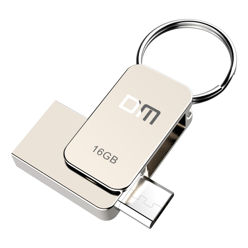 DM PD020 USB Flash font b Drive b font 16GB Metal OTG Pendrive High Speed USB2