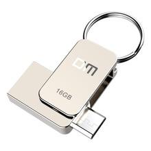 DM PD020 clé Flash USB de 16 go, clé OTG en métal haute vitesse, clé à mémoire USB 2.0 de 32 go, véritable capacité, disque 8 go U