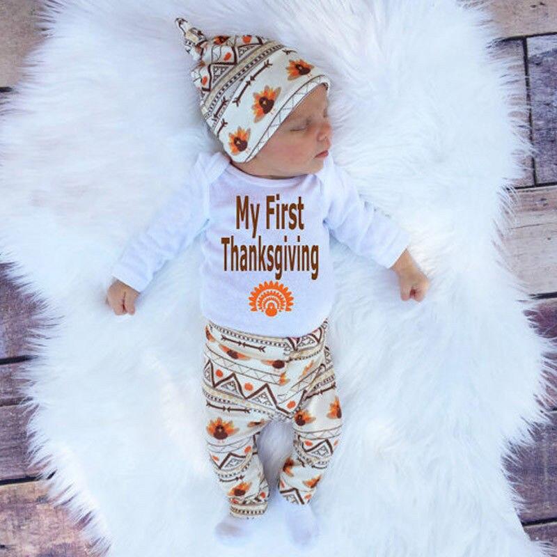 4pcs Outfits Set Newborn Toddler Infant Kids Baby Boy