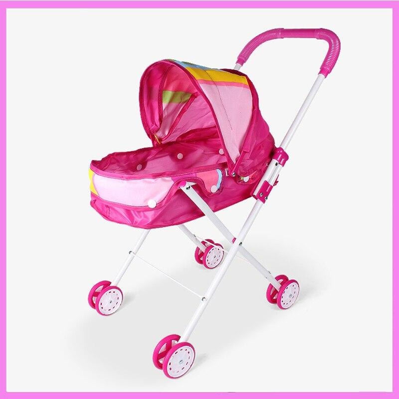 Детские развивающие претендует складной Детские коляски игрушки с куклами ходунки коляска мебель игрушки подарочный набор