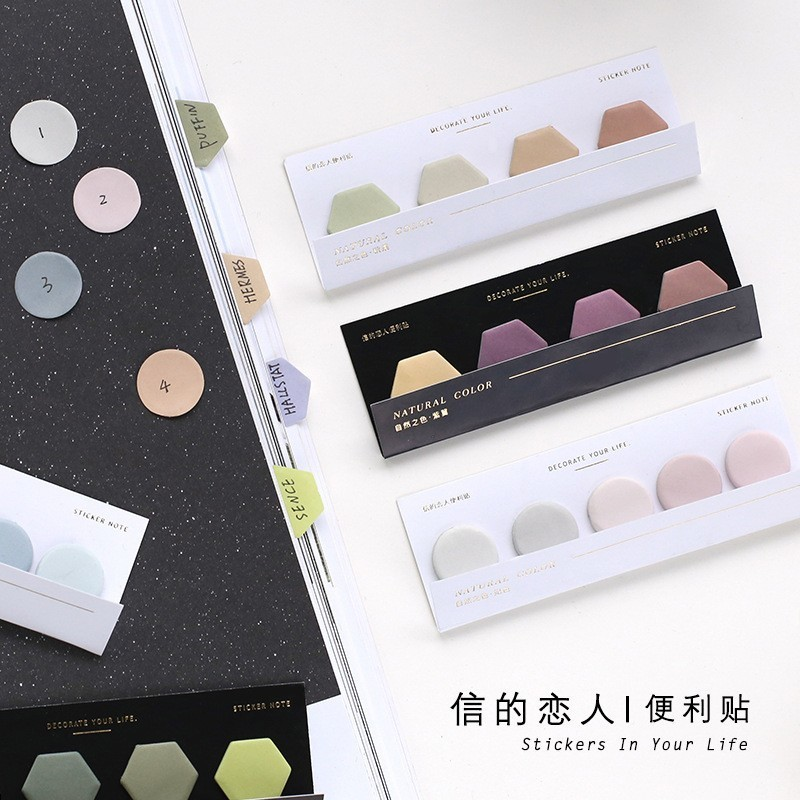 1PC New Creative Natural Color Series Memo Pad Paper Post Sticky Notes Notepad Stationery Papeleria Office School Supplies