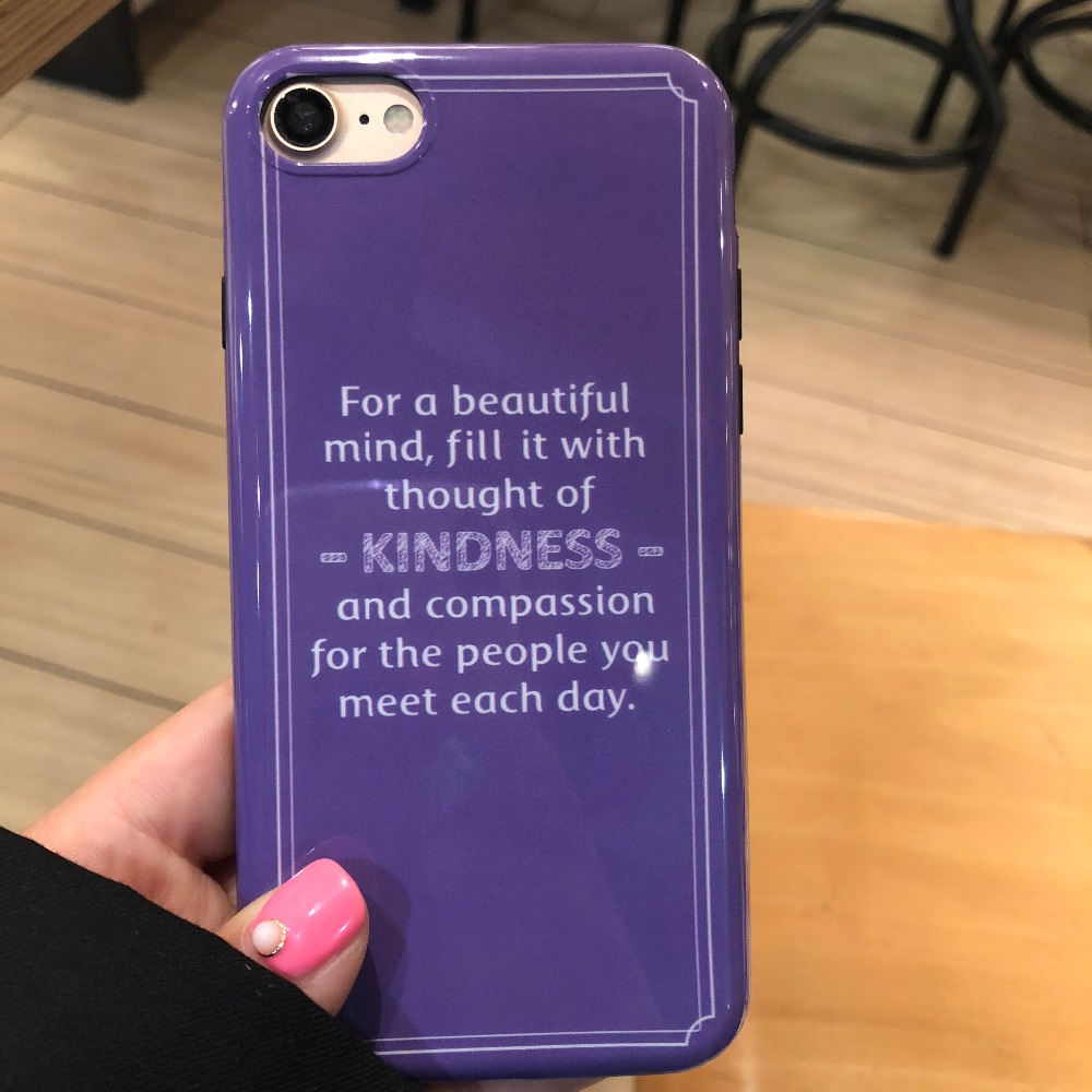 Stylish soft silicone letter purple <font><b>Phone</b></font> <font><b>Case</b></font> for iphone x 8 8plus 6 6s 7 plus funny original designer soft cover for man women