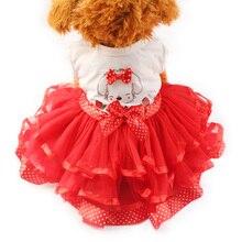 Armi магазин мультфильм щенок шаблон платья для собак девушка собака платье 6071031 Pet принцесса поставки юбок XS, S, M, L, XL