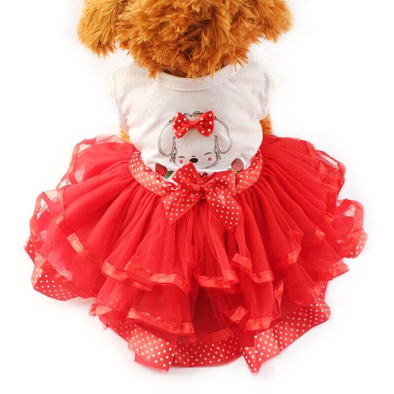 533 Armi Store Dibujos Animados Cachorro Patrón Vestidos Para Perros Niña Perro Vestido 6071031 Mascota Princesa Falda Ropa Suministros Xs S M L