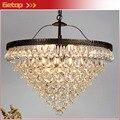 Роскошная светодиодная Подвесная лампа в форме капли воды  круговая американская Ретро лампа E14  лампа для гостиной  балкона  магазина