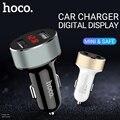 hoco автомобильное зарядное устройство usb адаптер 12 24 вольт портативный юсб адаптер зарядник два usb порта смарт зарядка для apple iphone 6 7 8 x телефо...