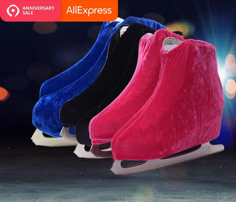 1 par Sapatos de Veludo Capa Roller Skate De Patinação No Gelo Figura Patinação Anti Sujo Flannelette Elástica Para As Crianças Adulto Anti Moagem