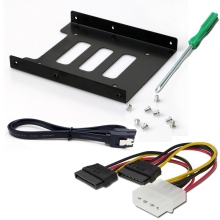 Полезный 2,5 дюймовый SSD HDD на 3,5 металлический монтажный адаптер с кабелем sata3.0 и кабелем питания и отверткой Кронштейн Док-станция для ПК SSD