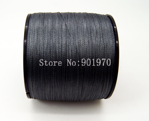Cheaper than factory price gray 4 strands 100m 20lb for 20 lb braided fishing line