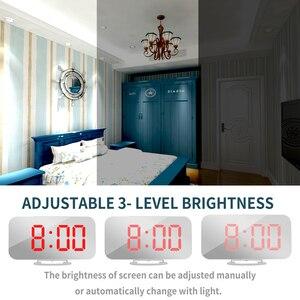 Image 5 - Большой светодиодный Будильник с голосовым управлением, электронный настольный цифровой будильник nixie с большим количеством дисплеев, с подсветкой