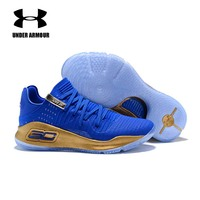 Under Armour men Basketball Shoes Curry 4 low top breathable sneakers curry Training Boots zapatillas hombre deportiva US 7 12