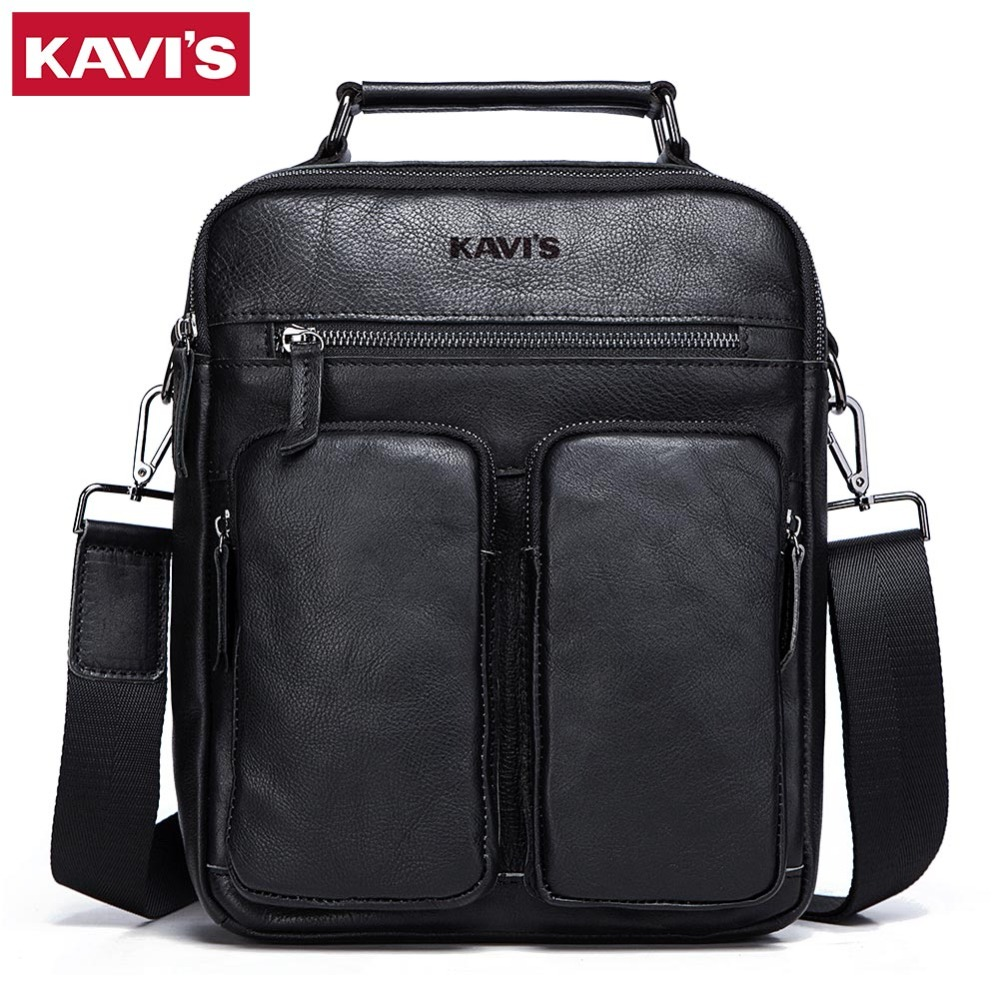 KAVIS Genuine Leather Vintage Men Bag Brand Handbag Business Casual Men s  Travel Bag Shoulder Bags Tote 7961caedf8c96