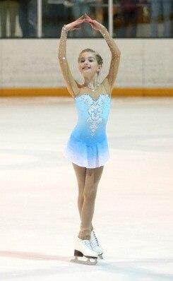 krasobruslení šaty pro dívky děti soutěž bruslení šaty dítě - Sportovní oblečení a doplňky