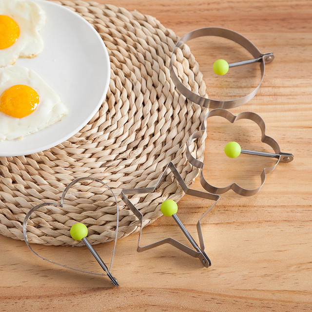 1Pcs Stainless Steel Fried Egg Mold Pancake Bread Fruit and Vegetable Shape Decoration Kitchen Accessories Kitchen Gadgets. Q 2