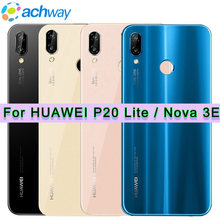 Voor Huawei P20 Lite Back Glas Batterij Cover Met Camera Lens Voor Huawei P20 Lite Batterij Cover Nova 3e Achter deur Behuizing Case