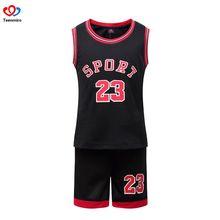 c10ad76ac8 2019 traje de ropa para niños niñas juego de baloncesto niños sin mangas  letras impresas pantalones
