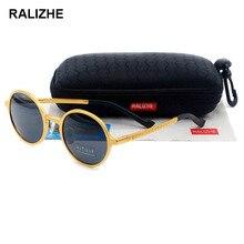 RALIZHE Aluminum Magnesium Aviation Alloy Round Polarized Sunglasses Mens Womens Sun Glasses UV400 Protection TAC Lens Driver