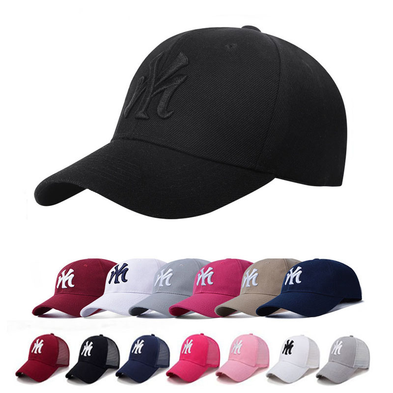 NY boné de beisebol boné de malha de verão chapéus preto adulto unissex  casual bonés de 3deaf9c0796